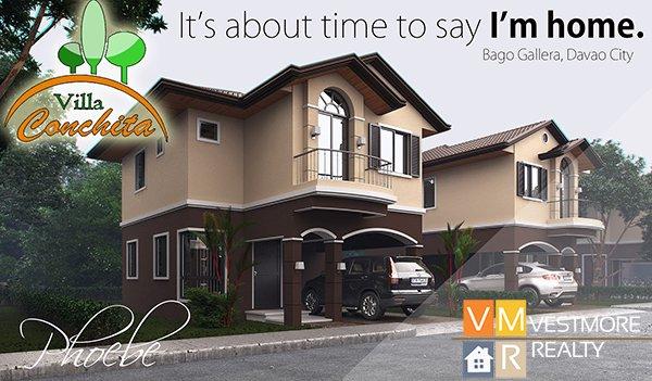 Villa Conchita, Bago Gallera, Davao City Properties, House and Lot in Davao City, Davao Real Estate Investment, Davao Subdivisions, Vestmorerealty.com, Davao City Subdivisions, Davao Properties for Sale, Davao Housing, Davao Real Estate Properties for Sale, Pag-ibig Housing in Davao City, Davao real estate, Davao Real Estate Property, Middle Cost Housing, TwoStorey, Phoebe
