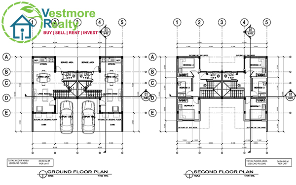 Marie Townhouse Floorplan at Cambridge Terraces Davao, Cambridge Terraces Davao Townhouse, Vestmore Realty