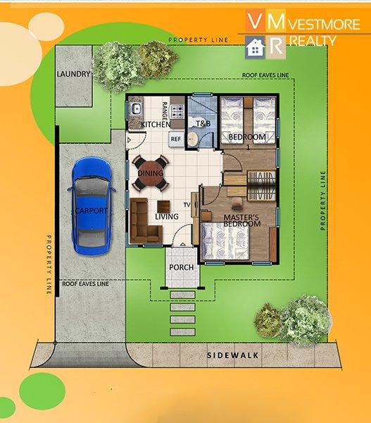 Villa Conchita, Bago Gallera, Davao City Properties, House and Lot in Davao City, Davao Real Estate Investment, Davao Subdivisions, Vestmorerealty.com, Davao City Subdivisions, Davao Properties for Sale, Davao Housing, Davao Real Estate Properties for Sale, Pag-ibig Housing in Davao City, Davao real estate, Davao Real Estate Property, Middle Cost Housing, Bungalow, Nina, Floor Plan