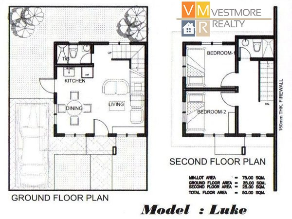 luke two storey 2 bedroom and 2 toilet and bath at the