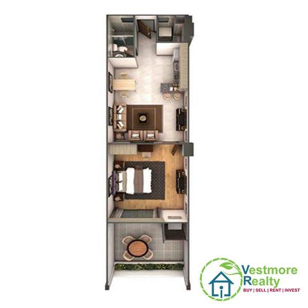 Legacy Leisure Residences Davao Condominium, Legacy Leisure Residences 1 Bedroom A, Vestmore Realty