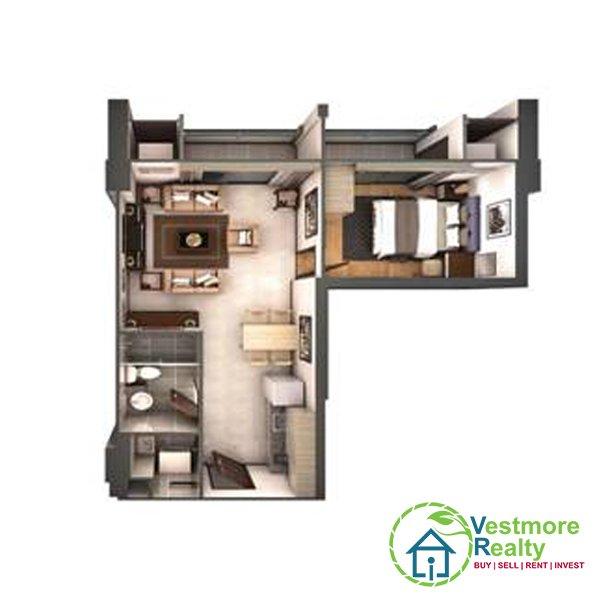 Legacy Leisure Residences Davao Condominium, 1-Bedroom C Unit, Vestmore Realty
