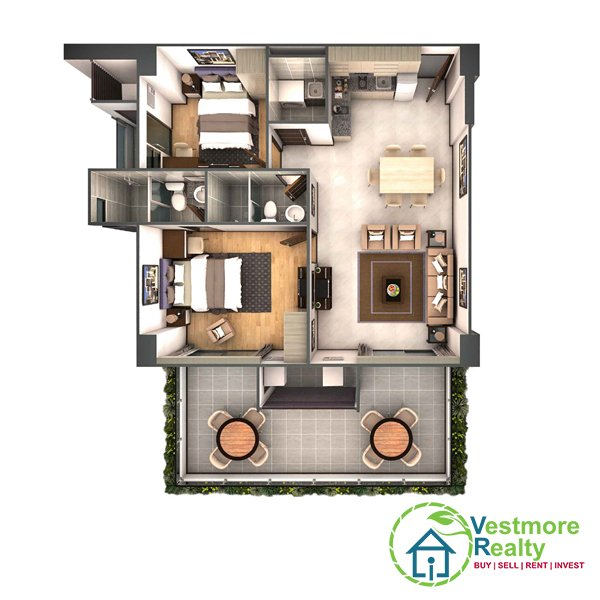 Legacy Leisure Residences Davao Condominium, Vestmore Realty, 2-Bedroom A