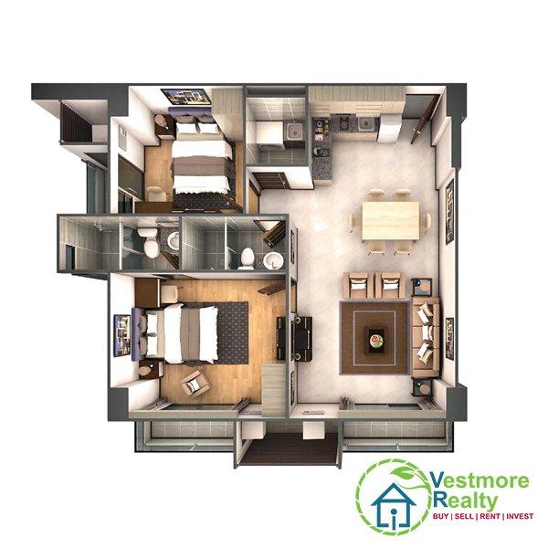 Legacy Leisure Residences Davao Condominium, Vestmore Realty, 2-Bedroom B